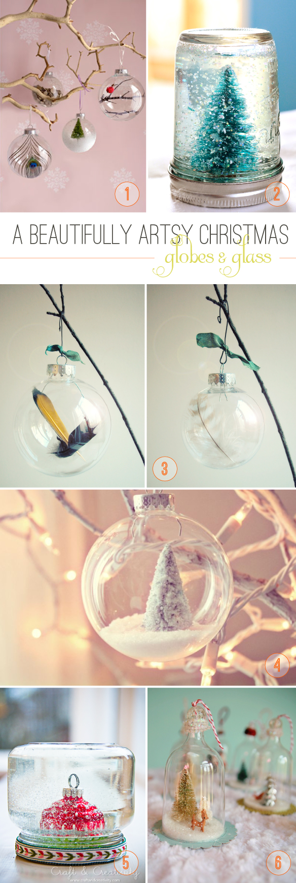 Beautiful Hello DIY Christmas Globes and Glass