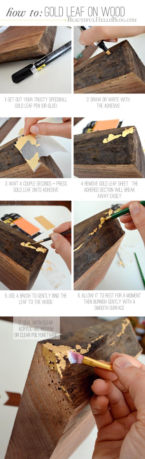 gold leaf DIY : Beautiful Hello Blog