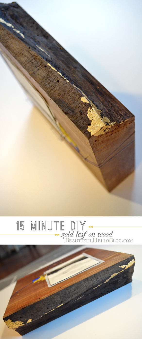 gold leaf diy : Emily Jeffords : Beautiful Hello Blog