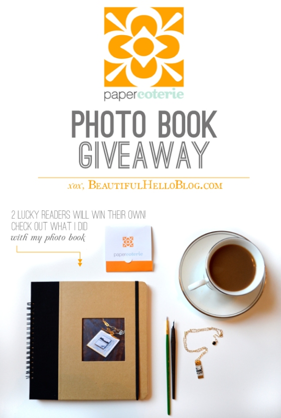 Paper Coterie Photo Book Giveaway on Beautiful Hello Blog
