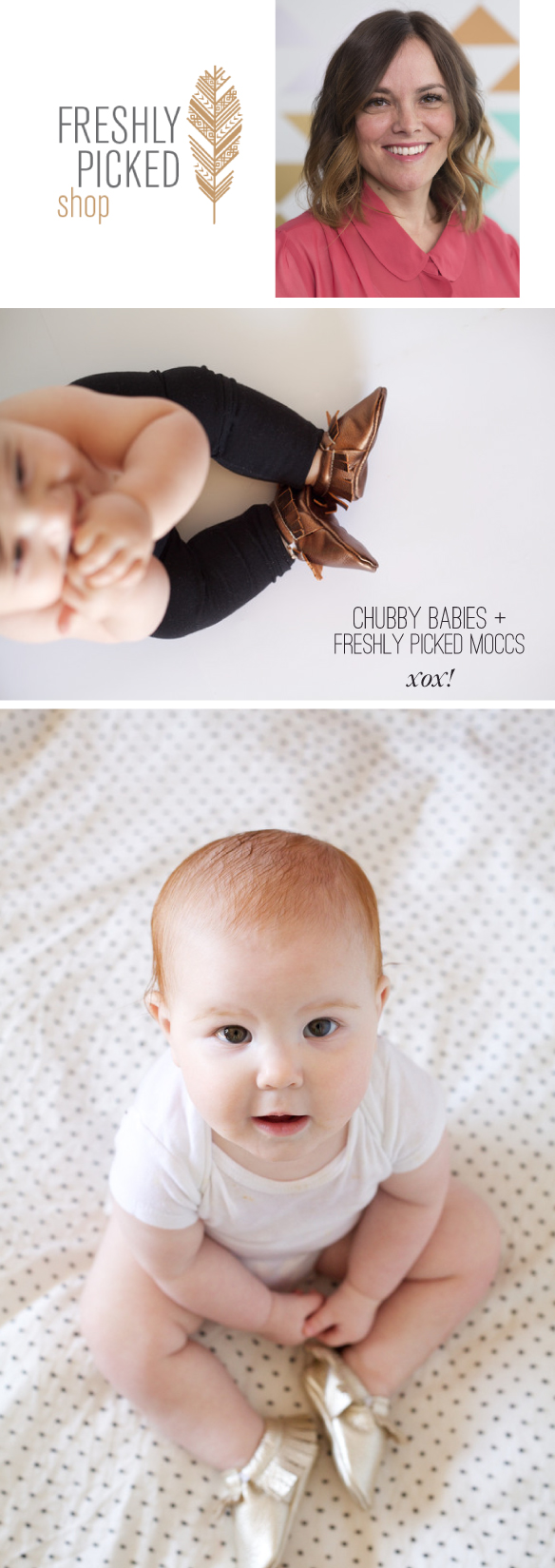 Crazy cute Freshly Picked baby shoes + an Intierview with Susan Petersen on Beautiful Hello Blog