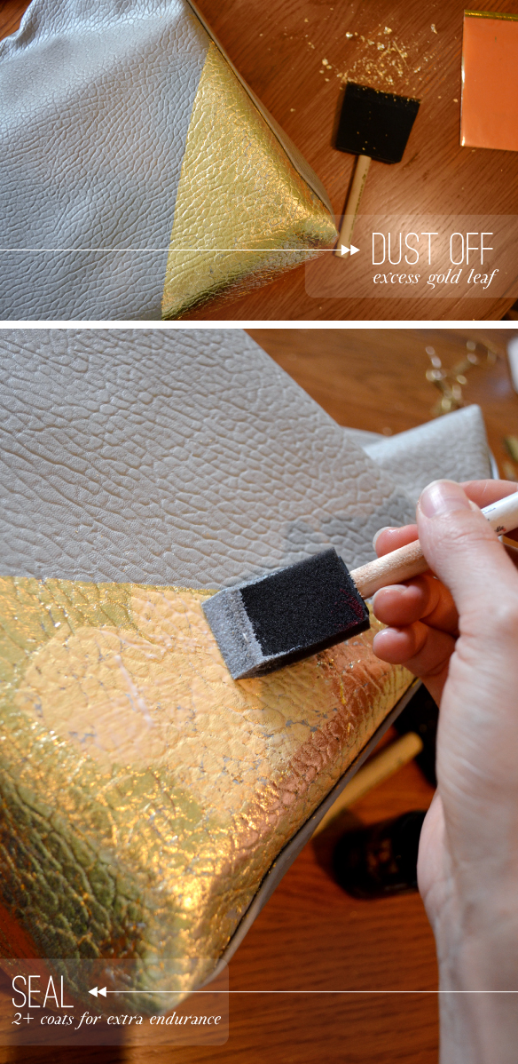 Gold Leaf Handbag DIY | Beautiful Hello Blog