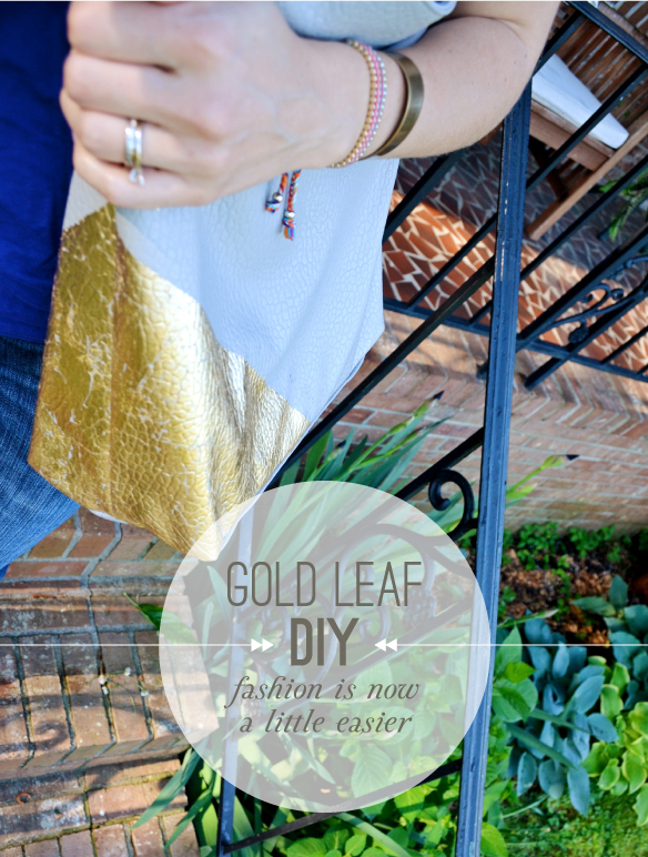 Gold Leaf on Leather Handbag DIY | Beautiful Hello Blog