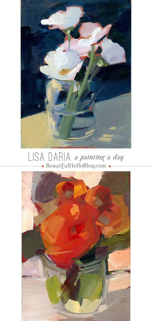 Artist Showcase: Lisa Daria - a (totally amazing) painting a day | BeautifulHelloBlog.com