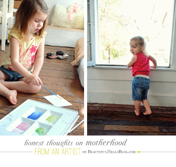 toughts on motherhood as an artist