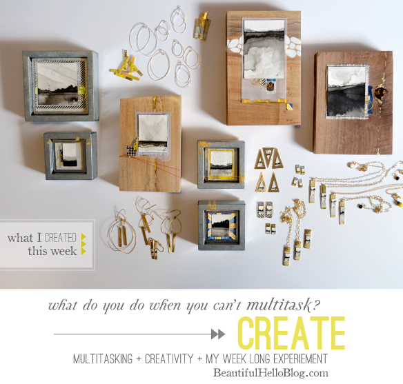 A week of not multitasking: what I loved and why I'm switching back - again.  Artwork created this week by Emily Jeffords