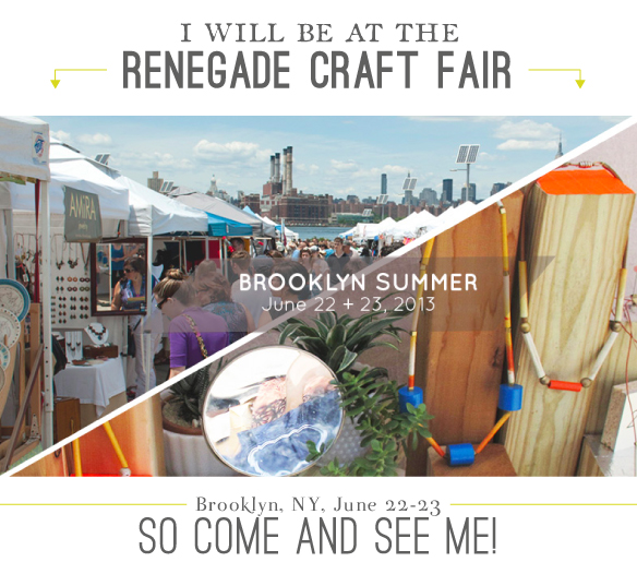 Come visit me at the Renegade Craft Fair!  Emily Jeffords Studio
