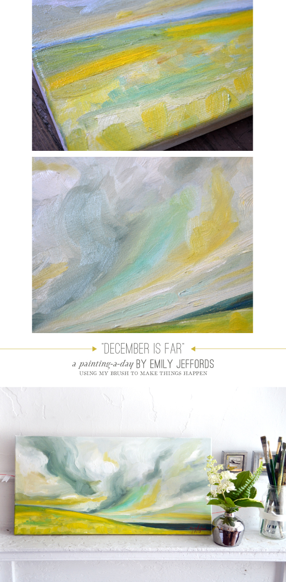 December is Far: Painting a Day Oil Landscape by Emily Jeffords