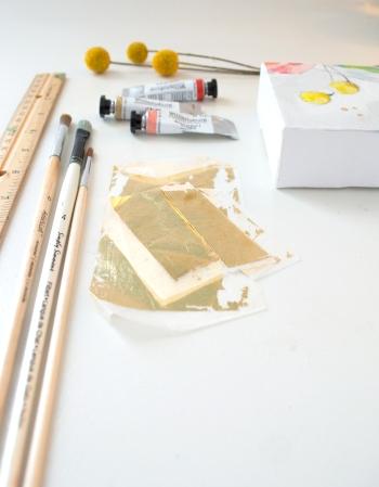 15 minute DIYGold Leaf on Wood