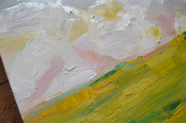 Nearing August: Original Paining by Emily Jeffords (Painting a Day) -details