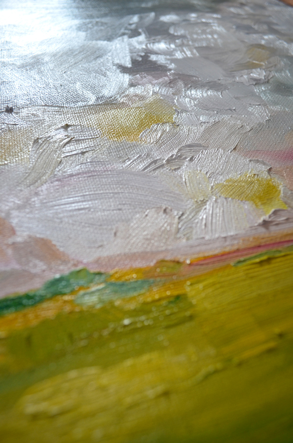 Nearing August: Original Paining by Emily Jeffords (Painting a Day) - details