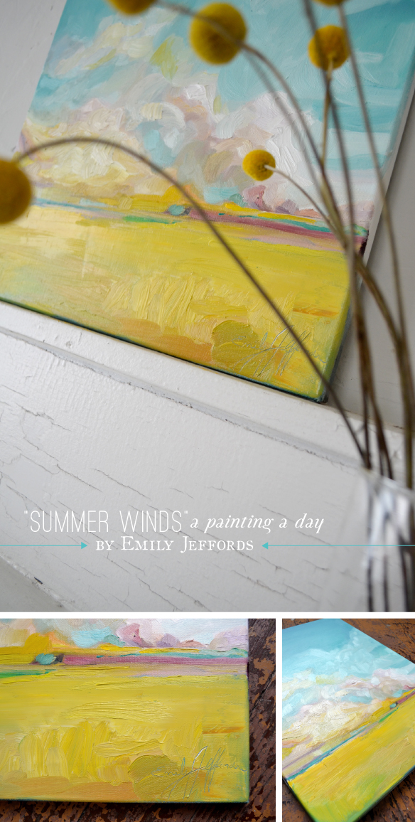 """Summer Winds"" Painting-a-day by Emily Jeffords  