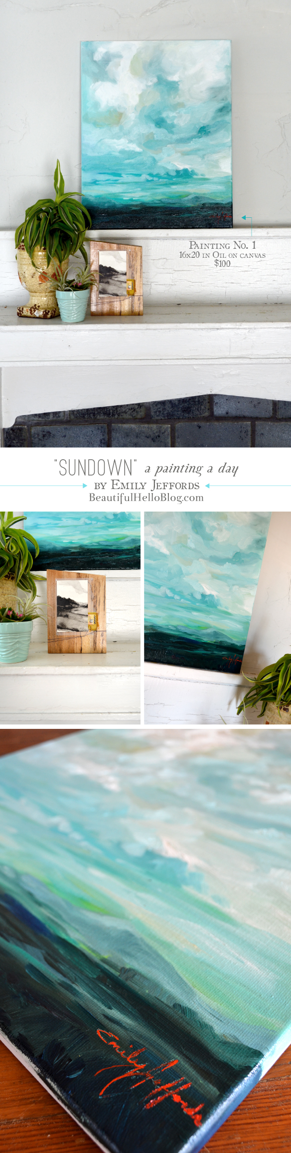 Sundown: Oil Painting by Emily Jeffords