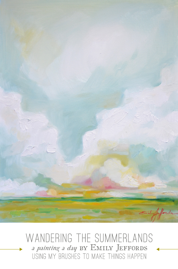 Wandering the Summerlands: painting a day landscaple by Emily Jeffords
