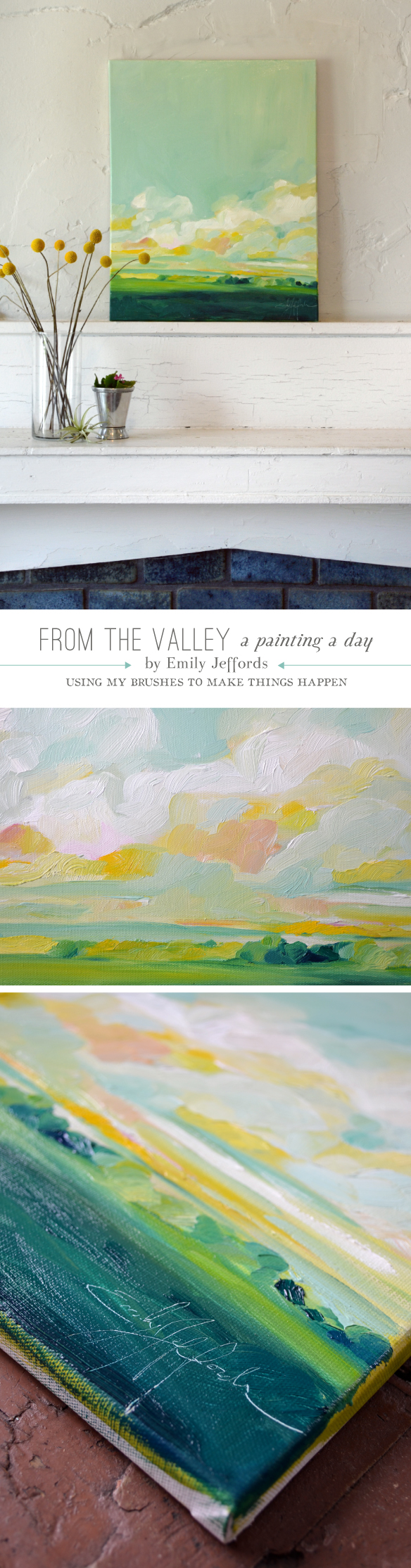 From the Valley: Painting-a-day by Emily Jeffords 16x20 inches