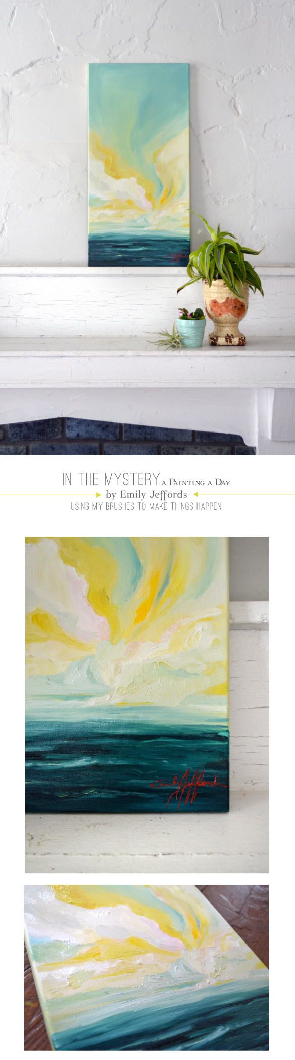 In the Mystery: A landscape painting a day by Emily Jeffords
