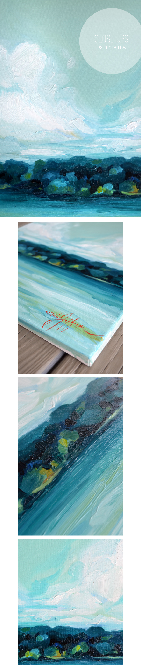 Lake Days; landscape painting a day by Emily Jeffords