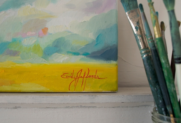 """Come Rain or Shine"" Original Oil Landscape by Emily Jeffords (Painting-a-day)"