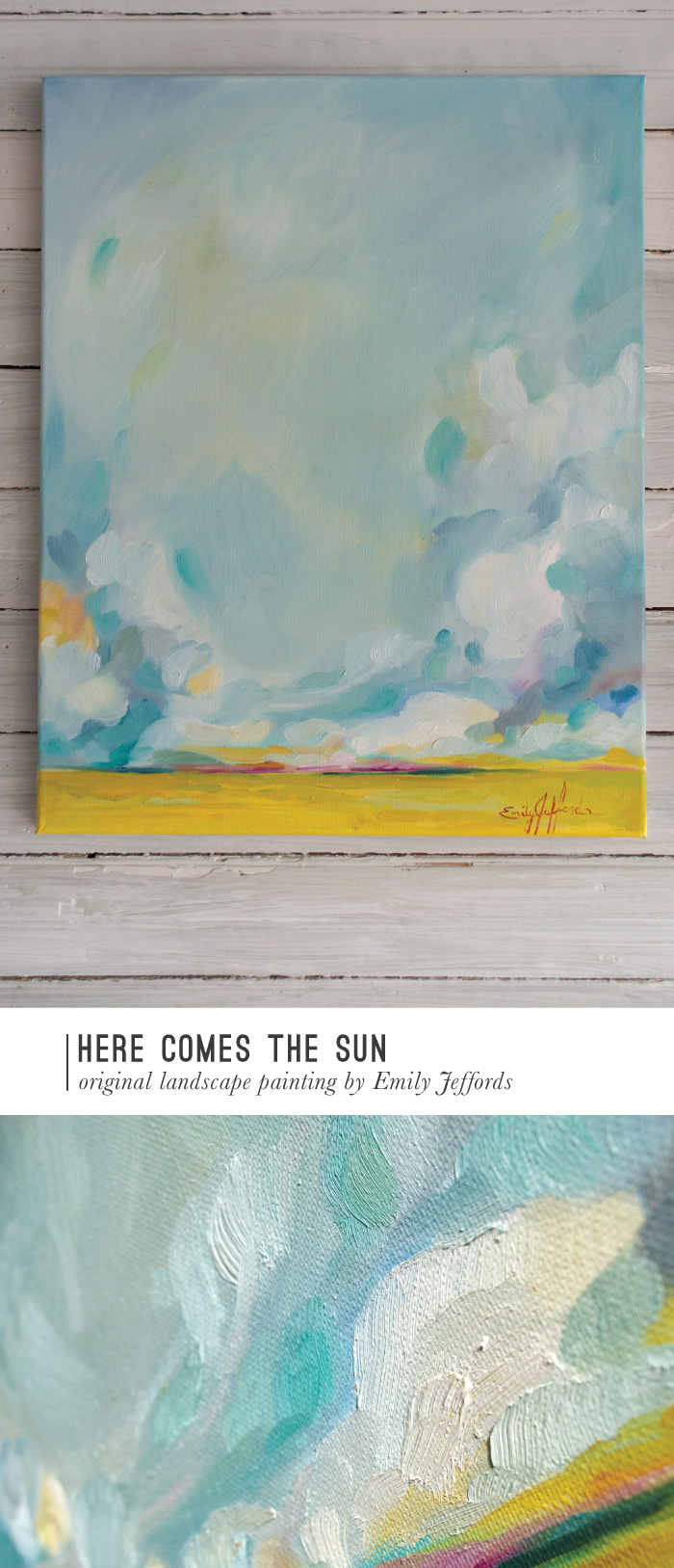 """Here Comes The Sun"" Painting-a-Day, oil on canvas, by Emily Jeffords"