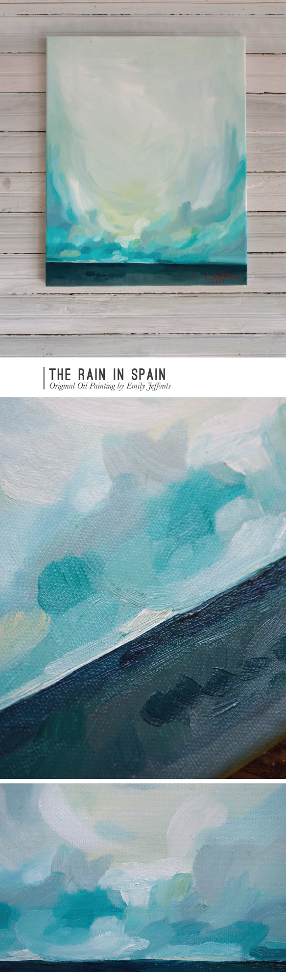 """Rain In Spain"" Original Oil Landscape by Emily Jeffords (Painting-a-day)"