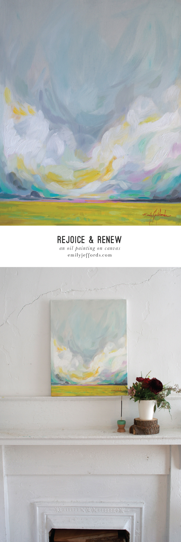 Rejoice & Renew: Original Oil Landscape Painting Emily Jeffords