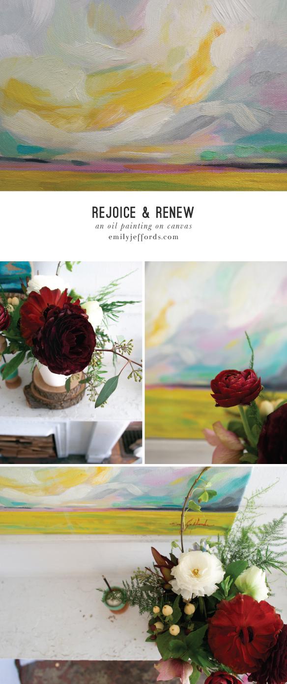 Rejoice & Renew: Original Oil Landscape Painting Emily Jeffords