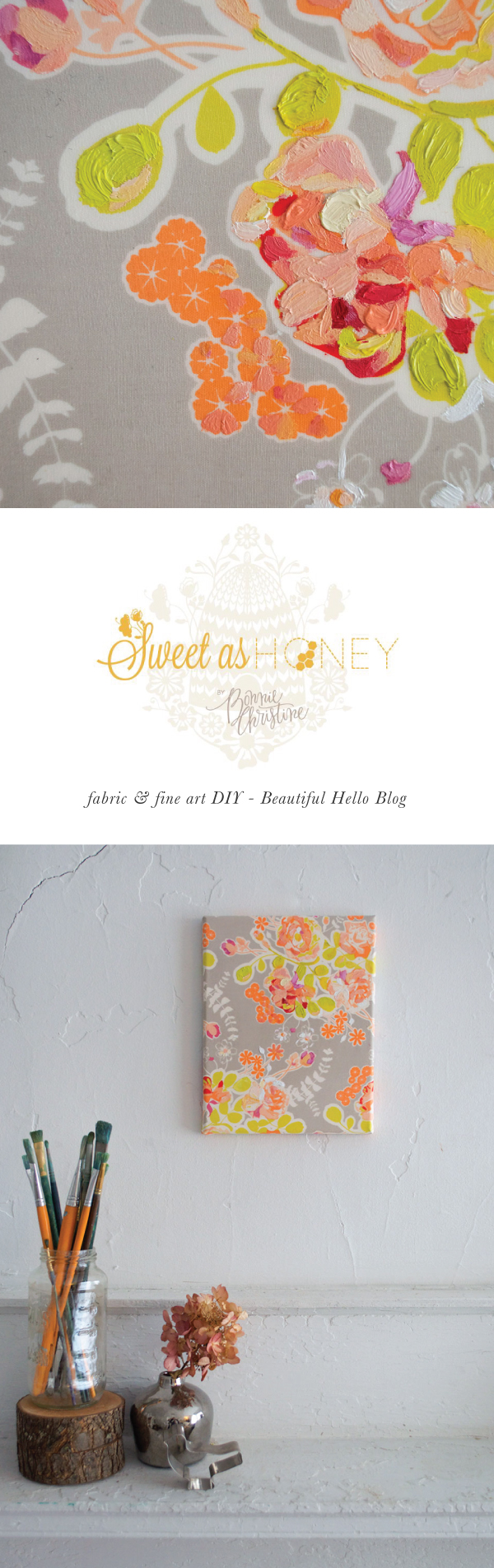 Fabric & Fine Art DIY: Sweet As Honey Design on Beautiful Hello Blog