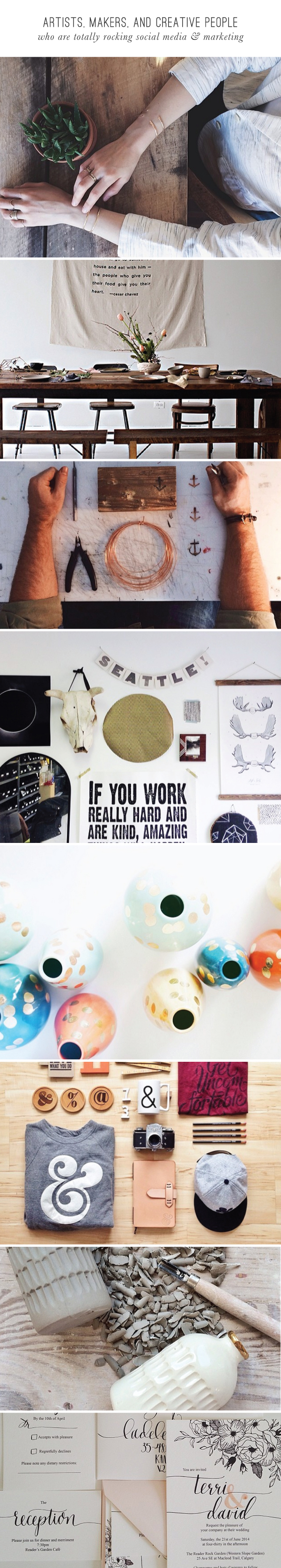 Artists, makers, and creative people  who are totally rocking social media & marketing  |  BeautifulHelloBlog.com