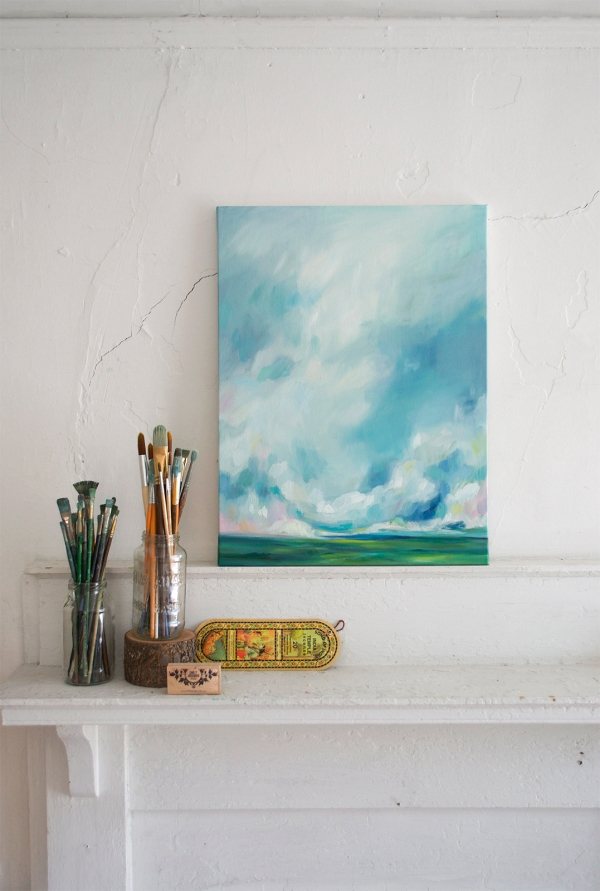 Sweetwater Weather.  Oil Painting by Emily Jeffords, Beautiful Hello Blog
