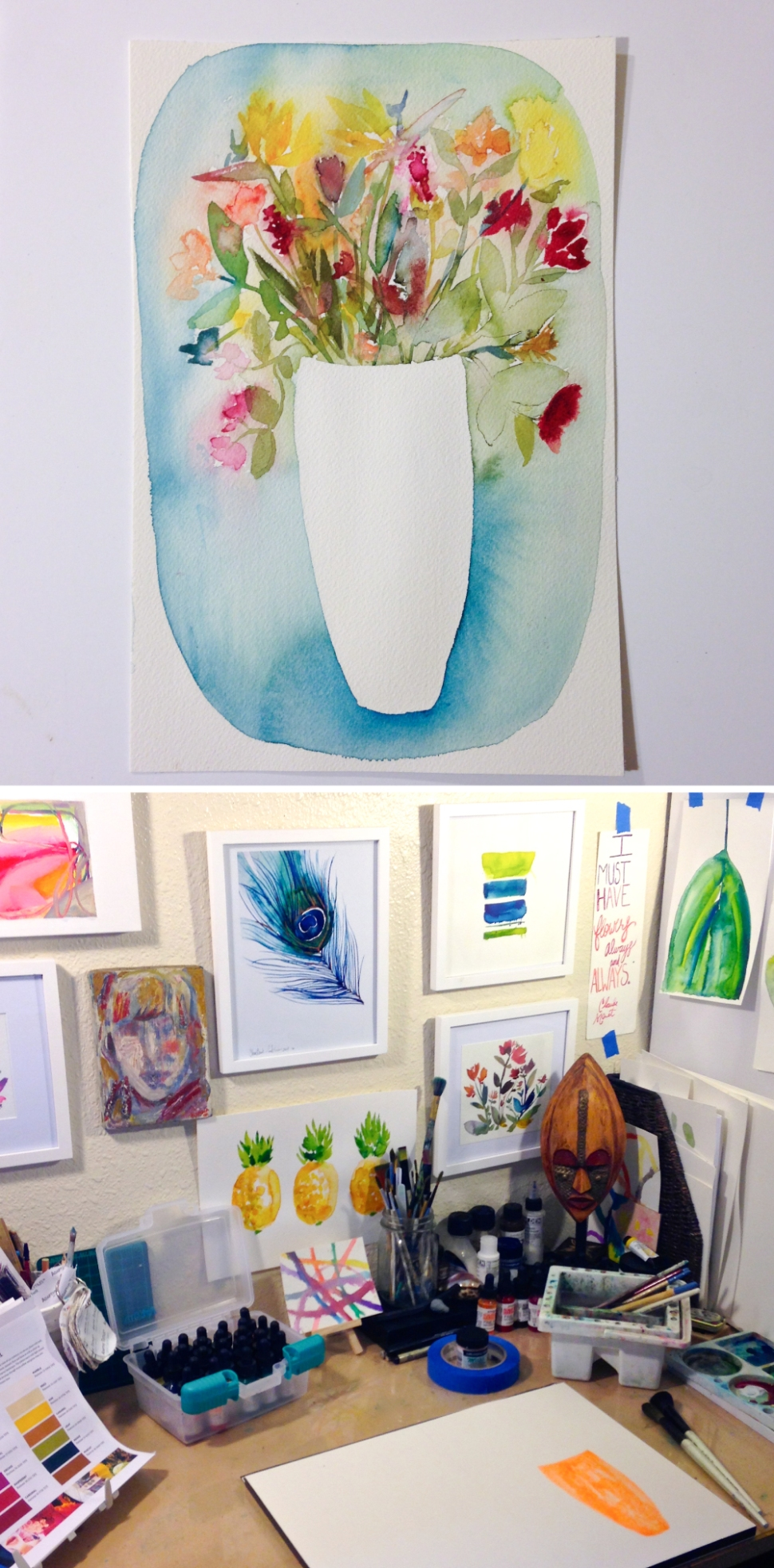Artist interview with Kiana Mosley, a rad Minted artist