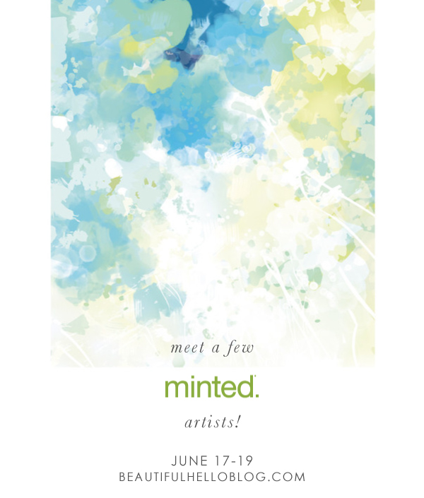 Minted art, BeautifulHelloBlog.com