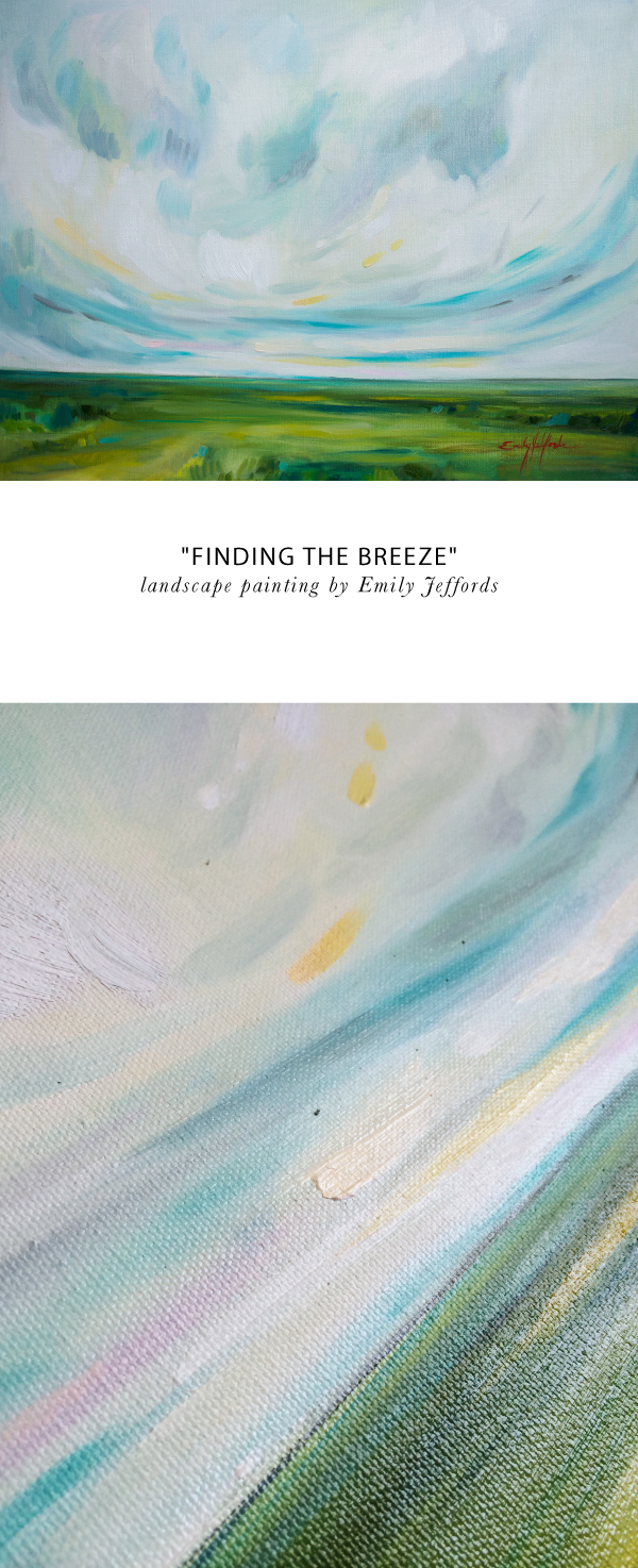 """Finding The Breeze"" Painting A Day by Emily Jeffords"