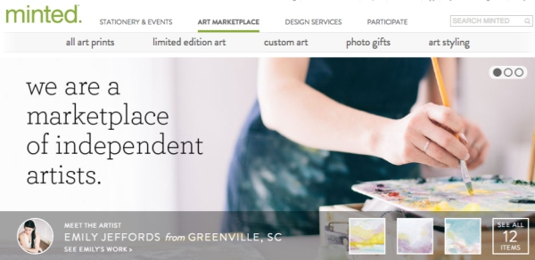 minted art market featuring artist Emily Jeffords