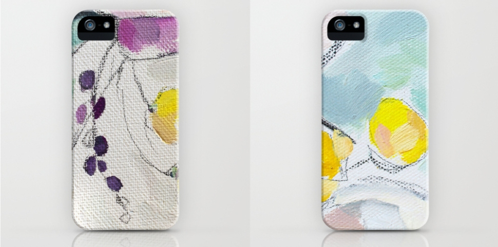 phone cases from Emily Jeffords iPhone shown