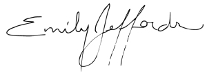 Emily Jeffords signiture