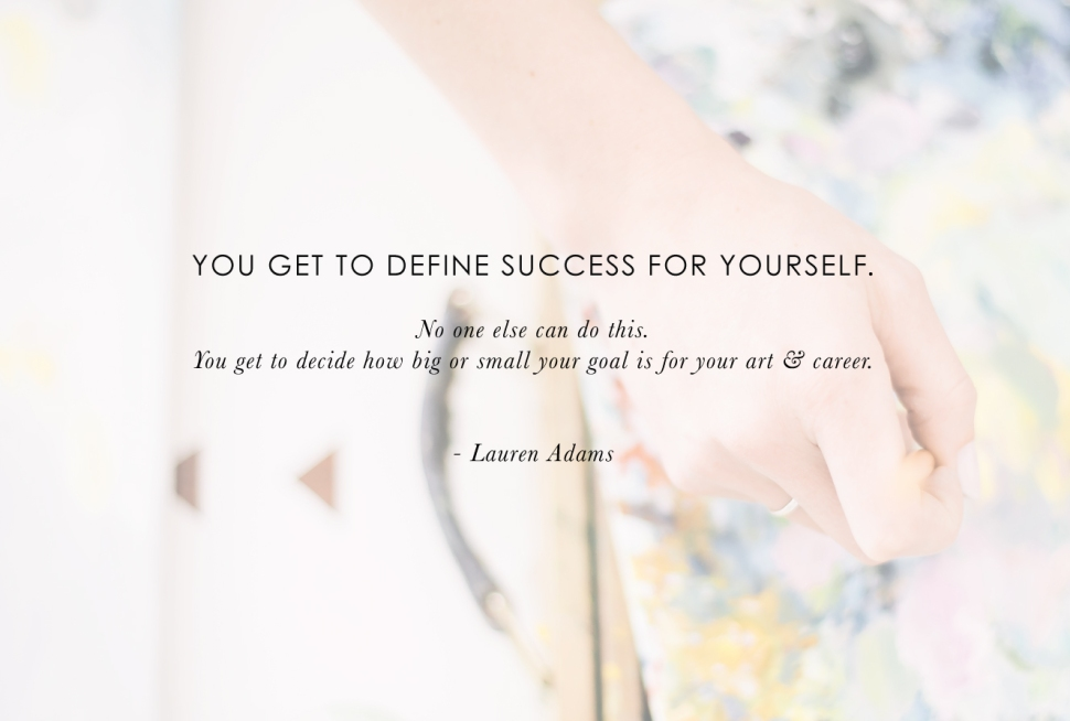 Artist-to-Artist: advice for new creatives from Lauren Adams