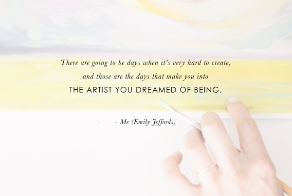 Artist-to-Artist: advice for new creatives from Emily Jeffords