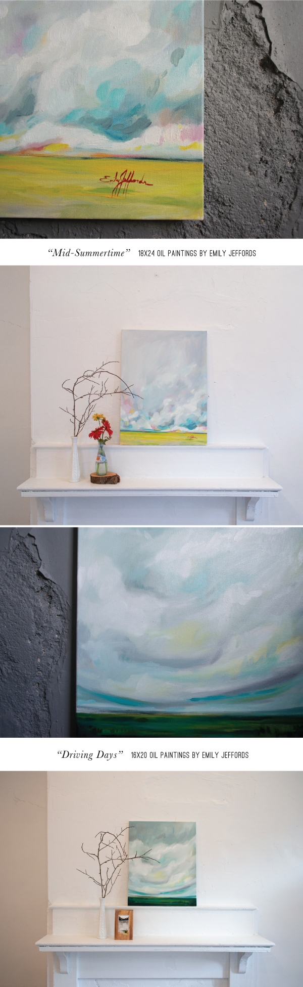New Original oil landscape paintings by Emily Jeffords