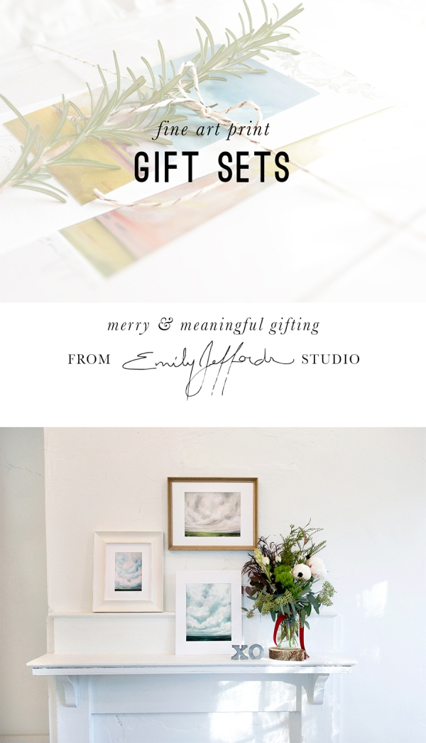 fine art gift sets from Emily Jeffords