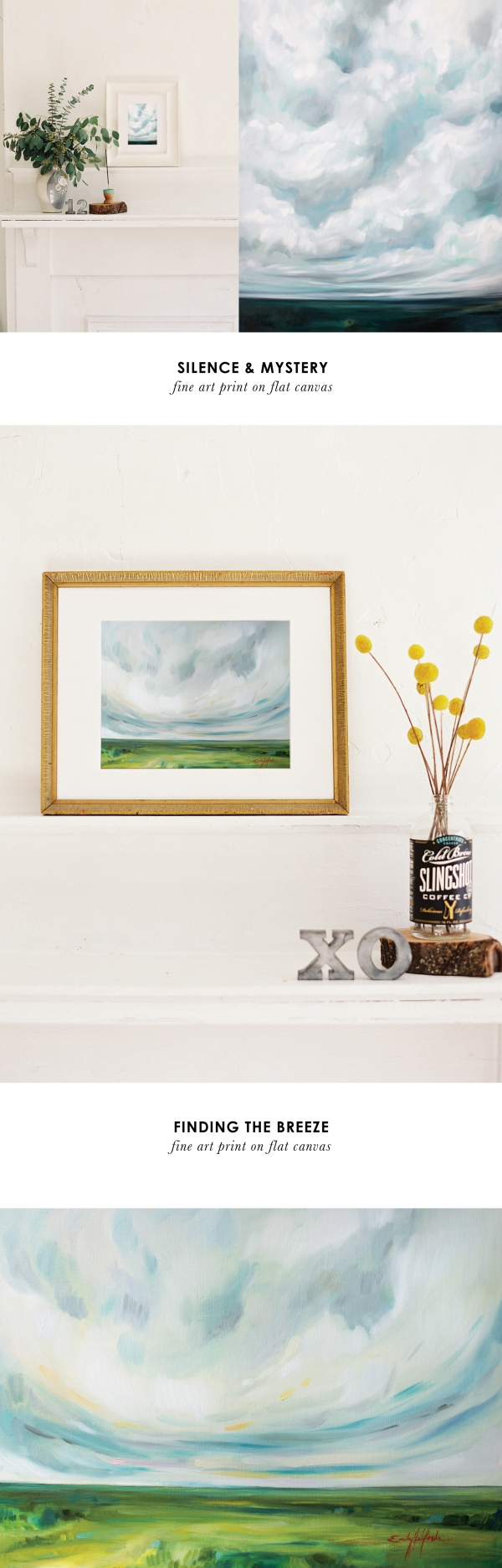 Fine art print artwork by Emily Jeffords Landscape Painting