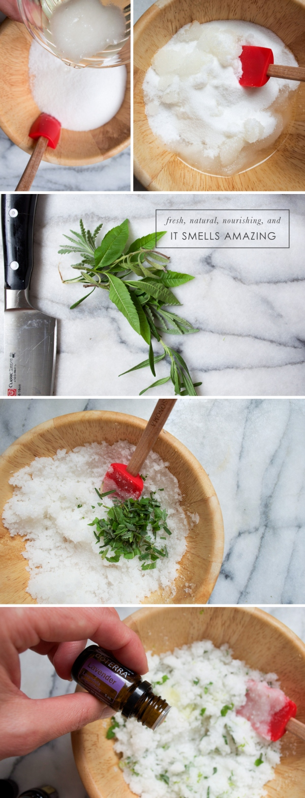 Essential Oil Sugar Scrub DIY from Beautiful Hello Blog