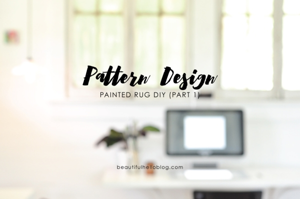 Painted Rug DIY & Sprout by HP